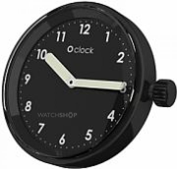 Unisex OClock Face Numbers Black OCF34
