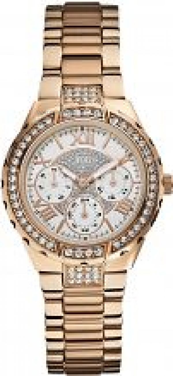 Ladies Guess Viva Chronograph Watch W0111L3