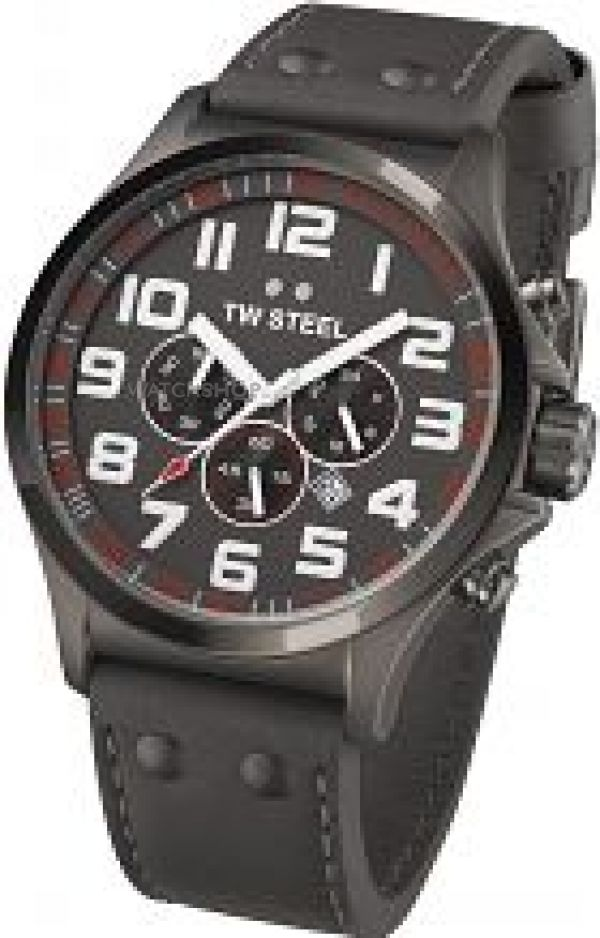 Mens TW Steel Pilot Chronograph 48mm Watch TW0423