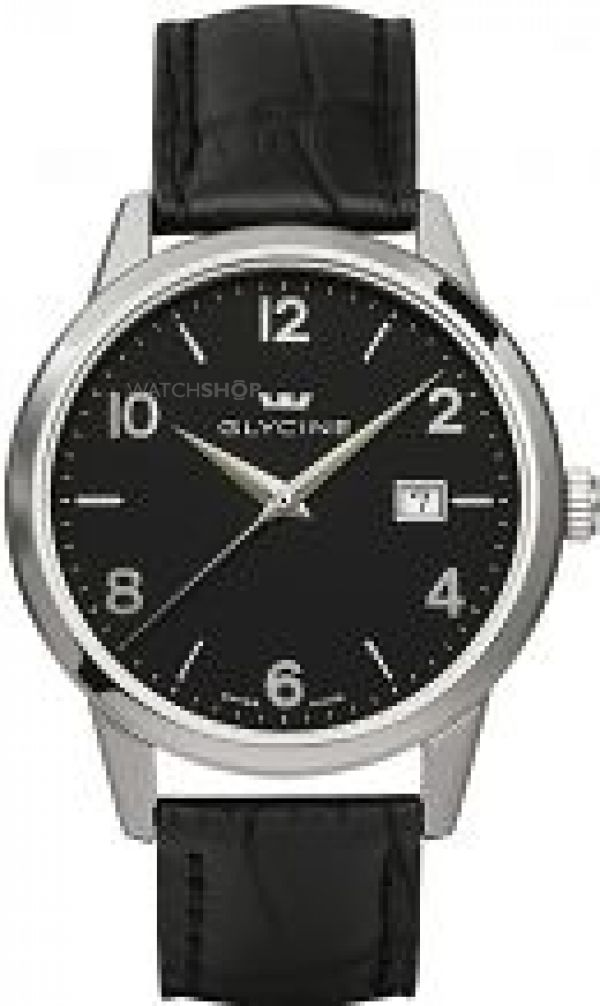Mens Glycine Classic Watch 3925.19.LBK9