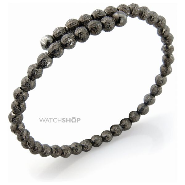 Sterling Silver Charcoal hue Galvanised Bead Bangle