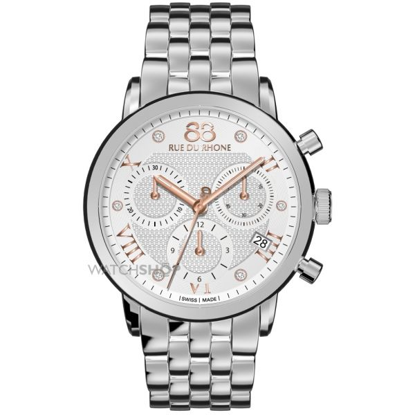 Ladies 88 Rue Du Rhone Double 8 Origin 35mm Chronograph Diamond Watch 87WA130034