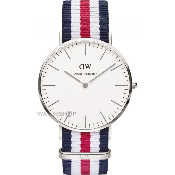 Mens Daniel Wellington Canterbury Silver 40mm Watch 0202DW