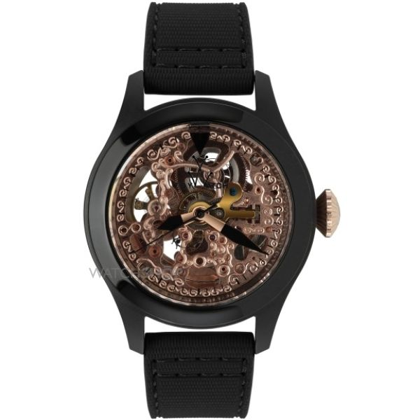 Mens ToyWatch Toy2Fly Skeleton Watch TTFS11BKPG