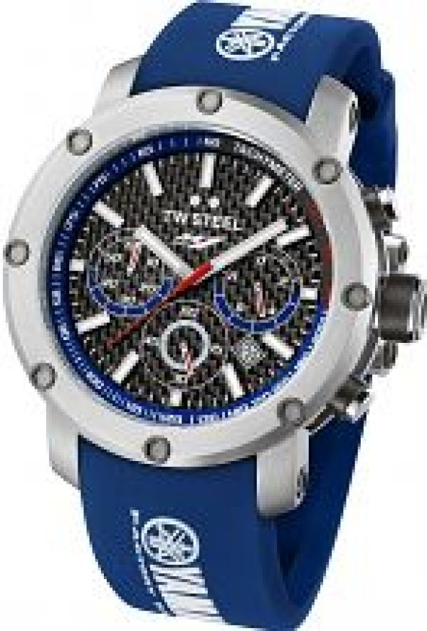 Mens TW Steel Tech Yamaha Factory Racing Edition 48mm Chronograph 48mm Watch TW0925