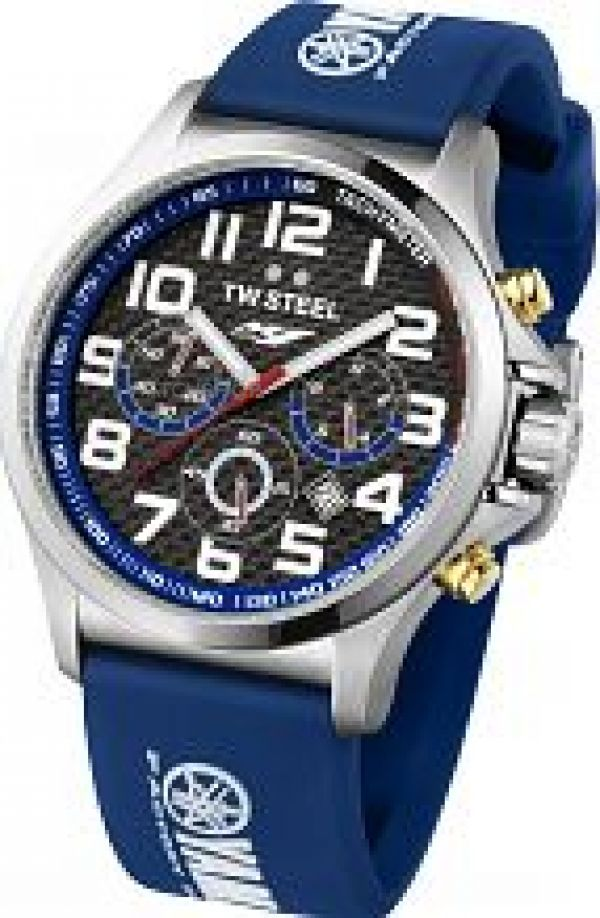 Mens TW Steel Pilot Yamaha Factory Racing Edition 48mm Chronograph 48mm Watch TW0927