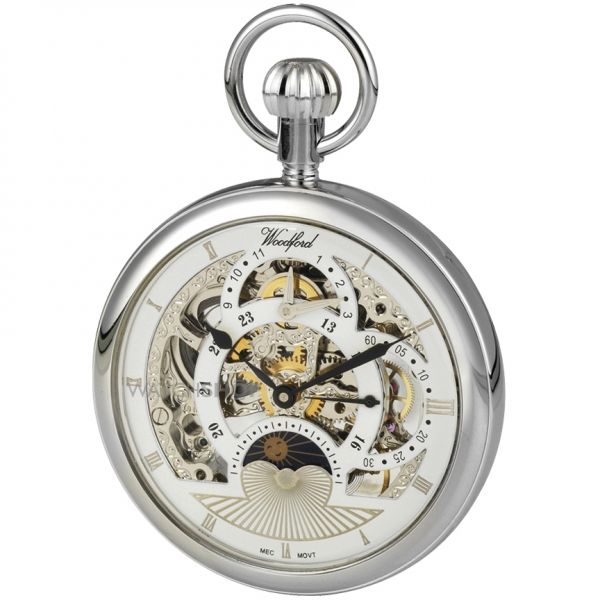 Woodford Skeleton Pocket Mechanical Watch WF1050
