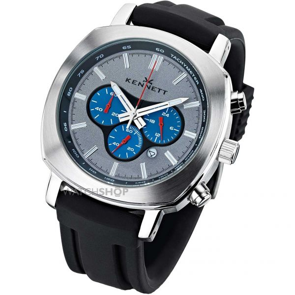 Mens Kennett Challenger Chronograph Watch WCHASILBLBK