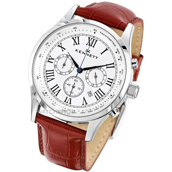 Mens Kennett Savro Chronograph Watch WSAVSILWHBR