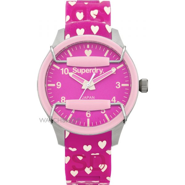 Ladies Superdry Scuba Heart Watch SYL137P
