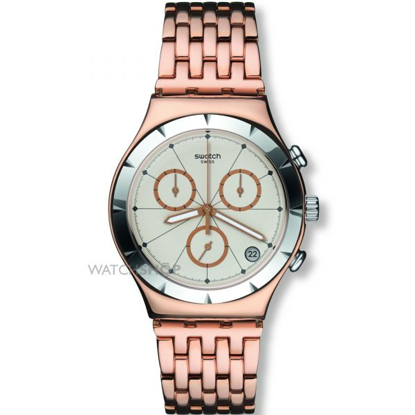Unisex Swatch Pushback Chronograph Watch YCG408G