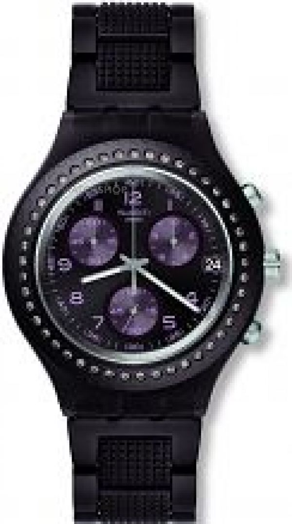 Unisex Swatch Tobacco Scent Chronograph Watch SVCV4000AG