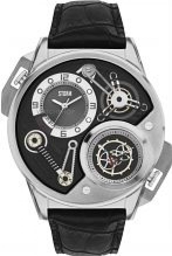 Mens STORM Dualtron Leather Watch DUALTRON-LEATHER-BLACK