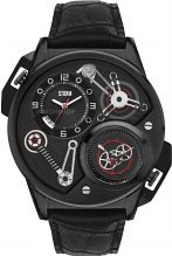 Mens STORM Dualtron Leather Watch DUALTRON-LEATHER-SLATE
