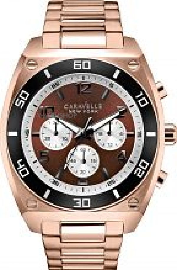 Mens Caravelle New York Clark Chronograph Watch 45A110