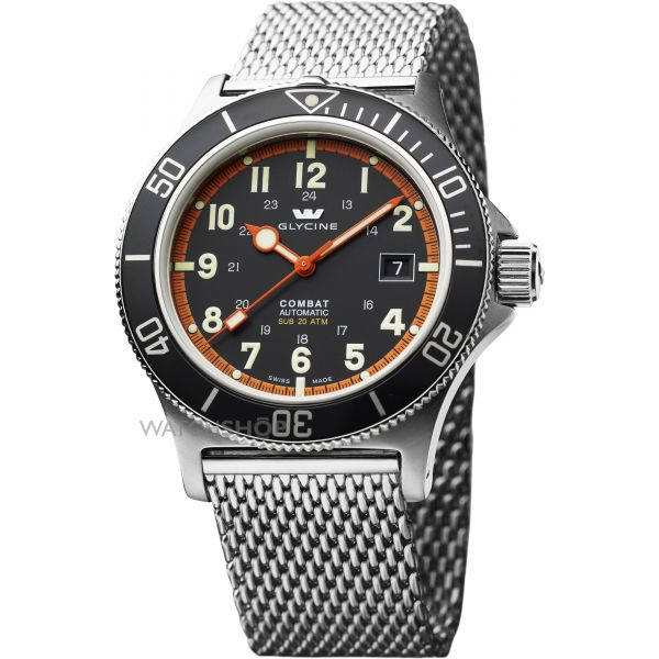 Mens Glycine Combat SUB Automatic Watch 3863.19AT.MM