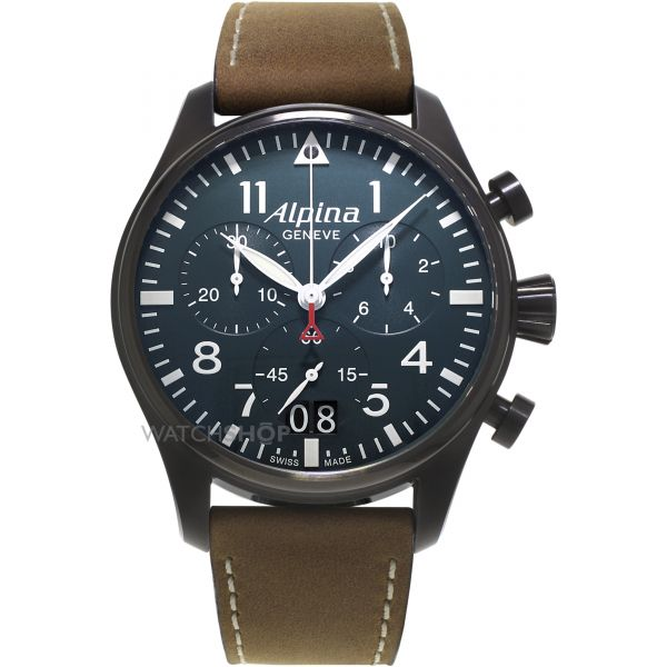 Mens Alpina Startimer Pilot Chronograph Watch AL-372N4FBS6