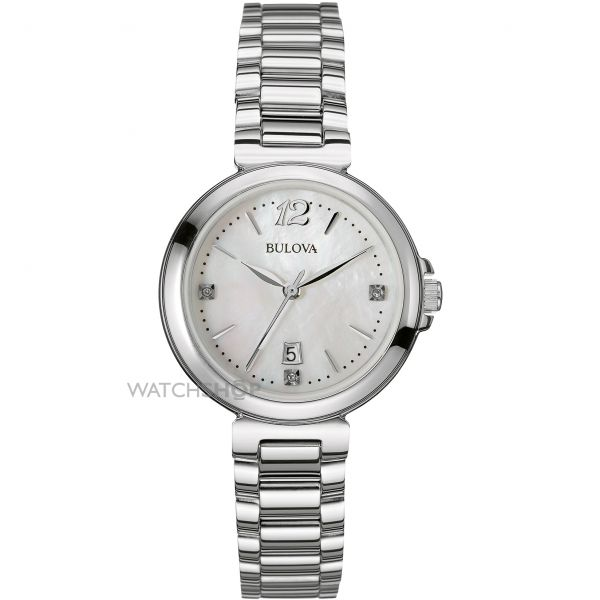 Ladies Bulova Diamond Gallery Diamond Watch 96P149
