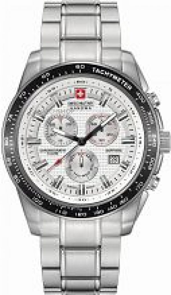 Mens Swiss Military Hanowa Crusador Chronograph Watch 6-5225.04.001