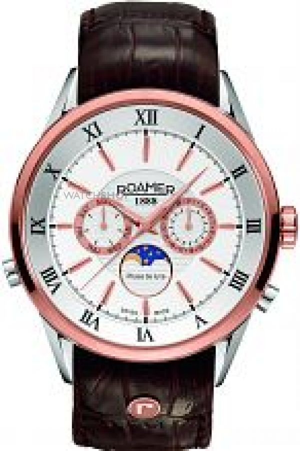 Mens Roamer Superior Moonphase Watch 508821491305