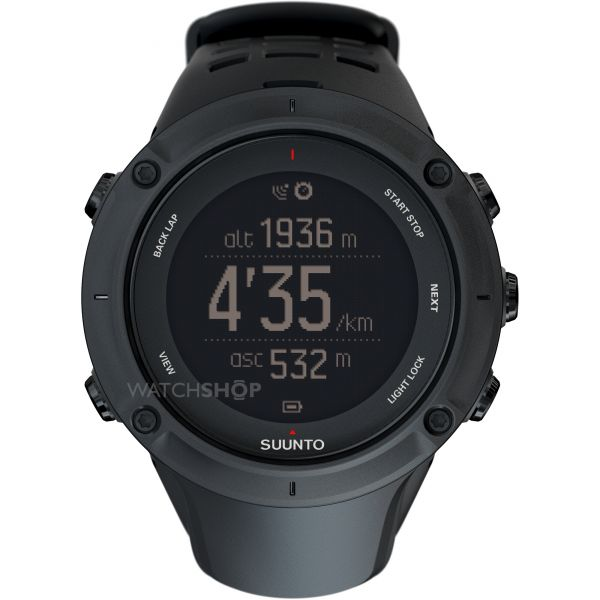 Mens Suunto Ambit 3 Peak HR Bluetooth GPS Chronograph Watch SS020674000