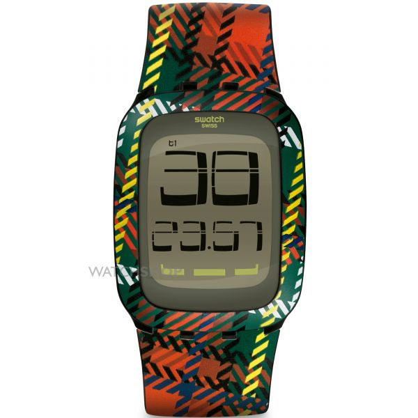 Unisex Swatch Touch Alarm Chronograph Watch SURB118