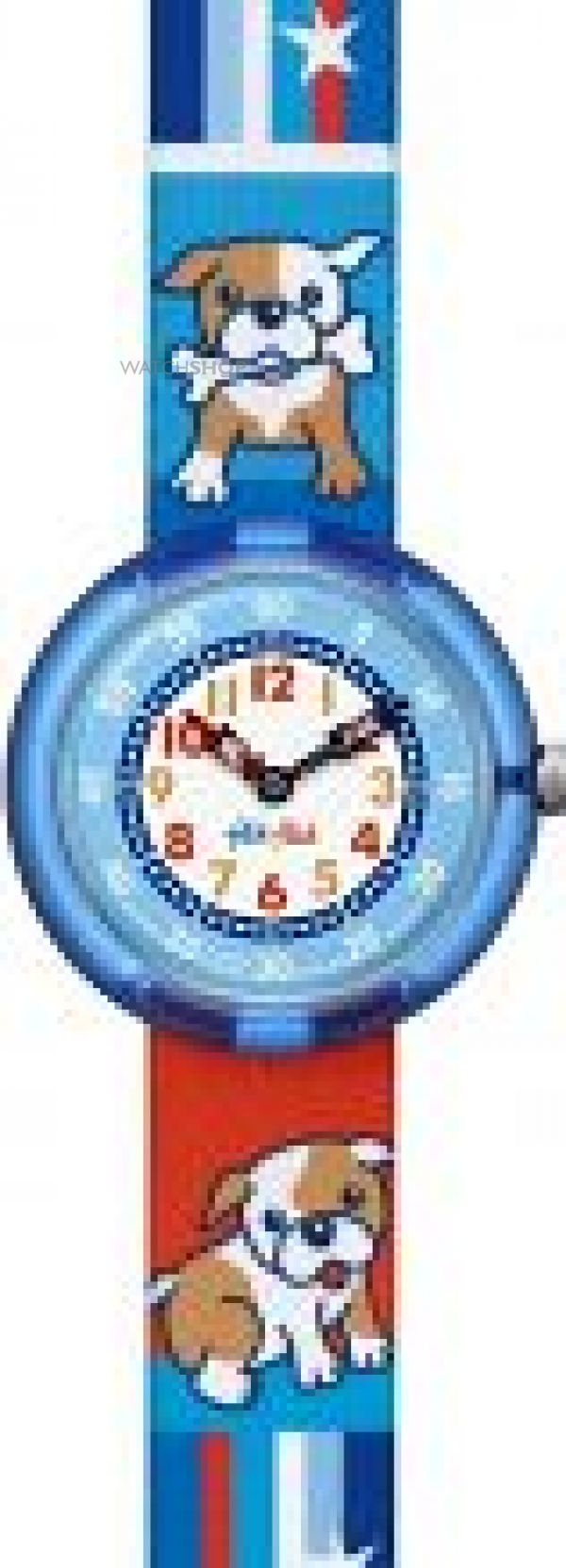 Childrens Flik Flak Cute Size Boys - Doggie Bone Watch FBNP027