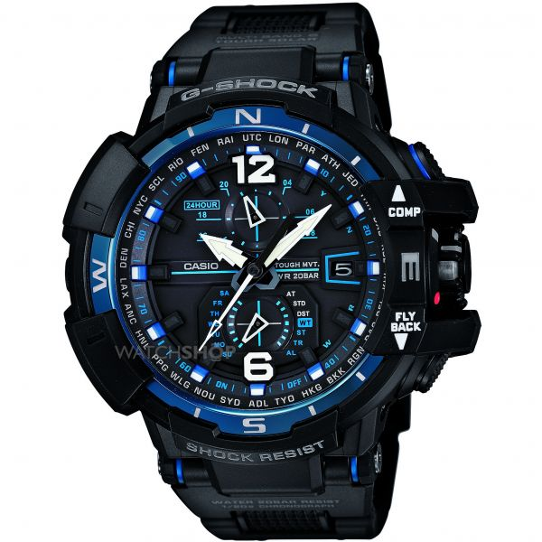 Mens Casio G-Shock Premium Gravity Defier Alarm Chronograph Watch GW-A1100FC-1AER