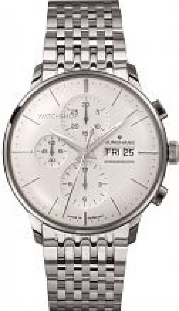 Mens Junghans Meister Chronoscope Automatic Chronograph Watch 027/4121.45