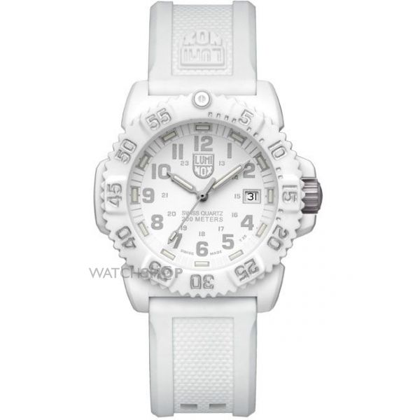 Luminox Unisex Navy Seal Colormark 7050 Series 38mm Whiteout Watch A7057.WO