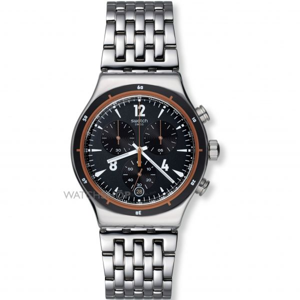 Mens Swatch Irony Chrono - Destination Madrid Chronograph Watch YVS419G