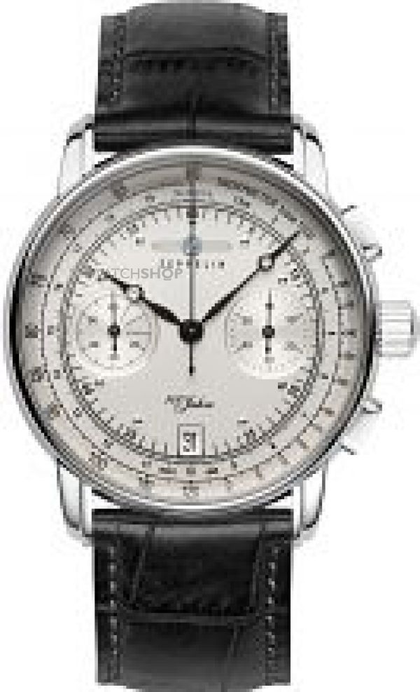 Mens Zeppelin 100 Jahre Chronograph Watch 7670-1