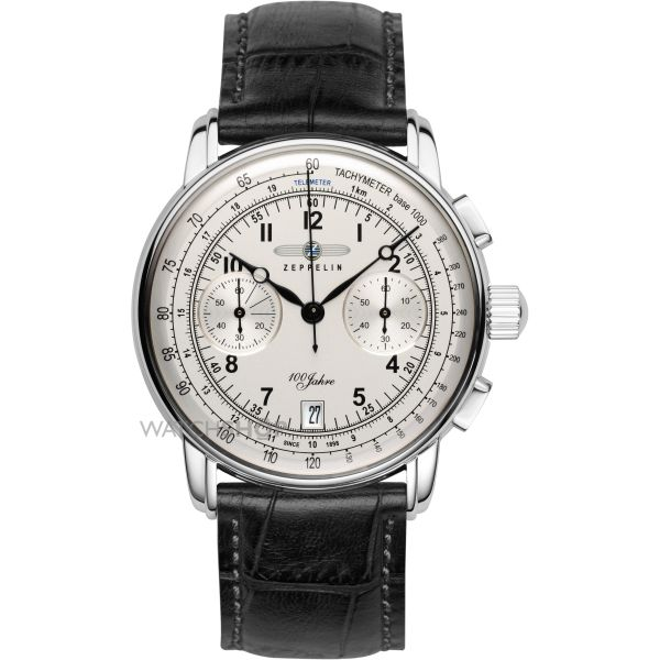 Mens Zeppelin 100 Jahre Chronograph Watch 7674-1