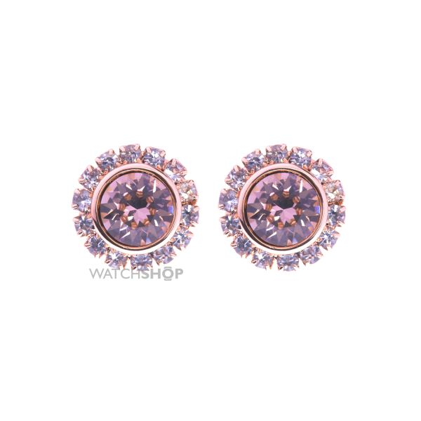 Ladies Ted Baker PVD rose plating Sully Crystal Chain Stud Earring TBJ854-24-16