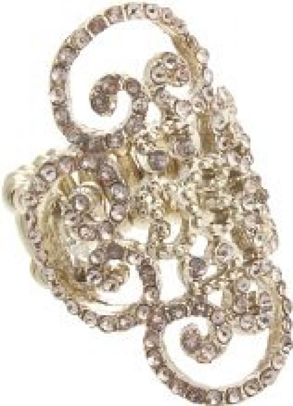 Ladies Lipsy Pave Filigree Ring LYW505259506095