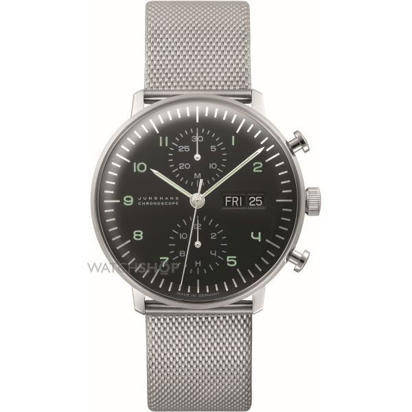 Mens Junghans max bill Chronoscope Automatic Chronograph Watch 027/4500.45