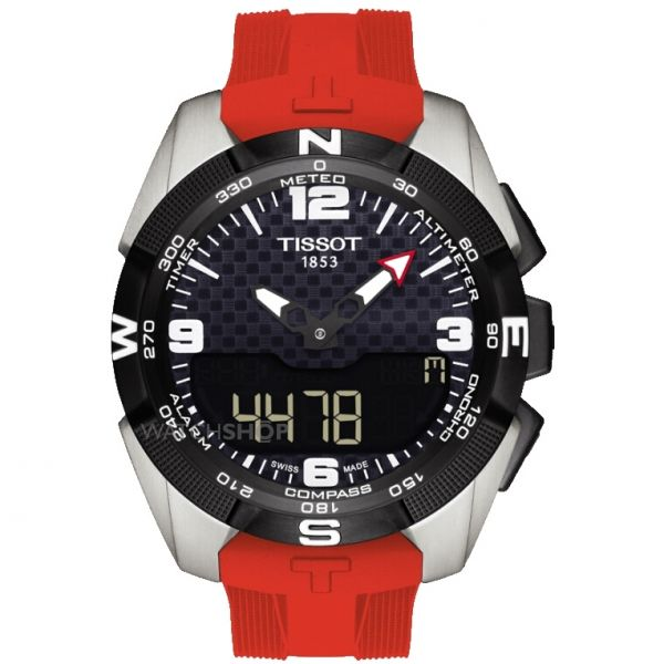 Mens Tissot T-Touch Expert Titanium Alarm Chronograph Solar Powered Watch T0914204705700