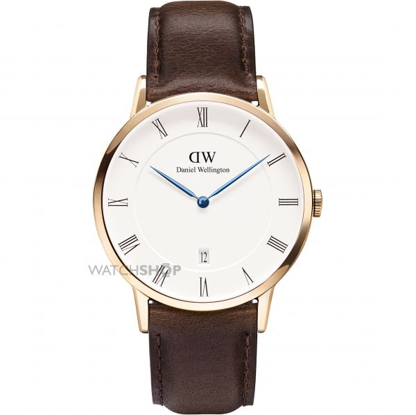Mens Daniel Wellington Dapper 38mm Bristol Rose Watch DW00100086