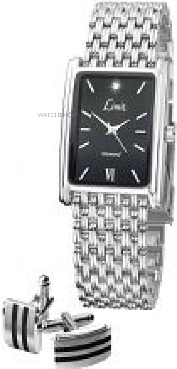 Mens Limit Special Dad Cufflink Gift Set Diamond Watch 5390G.45