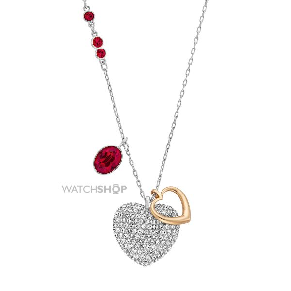 Ladies Swarovski Stainless Steel Duo Necklace 5169393