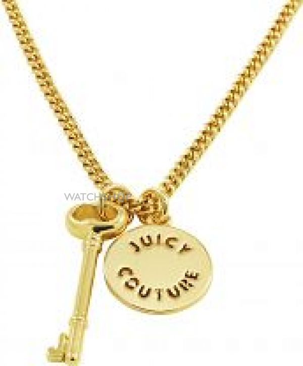 Ladies Juicy Couture PVD Gold plated Key And Disc Wish Necklace WJW522-710