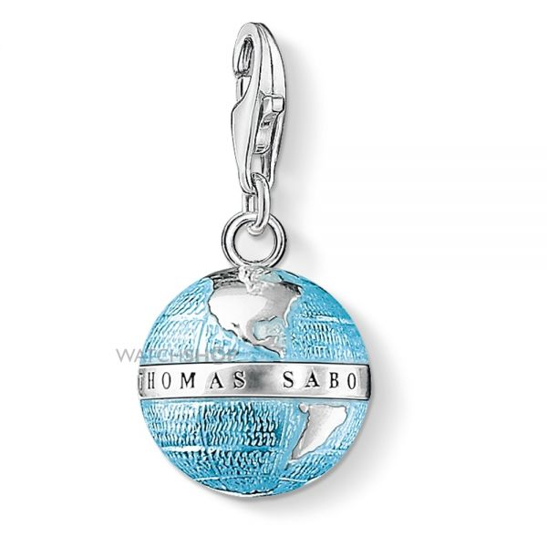 Ladies Thomas Sabo Sterling Silver Charm Club Globe Charm 0754-007-1