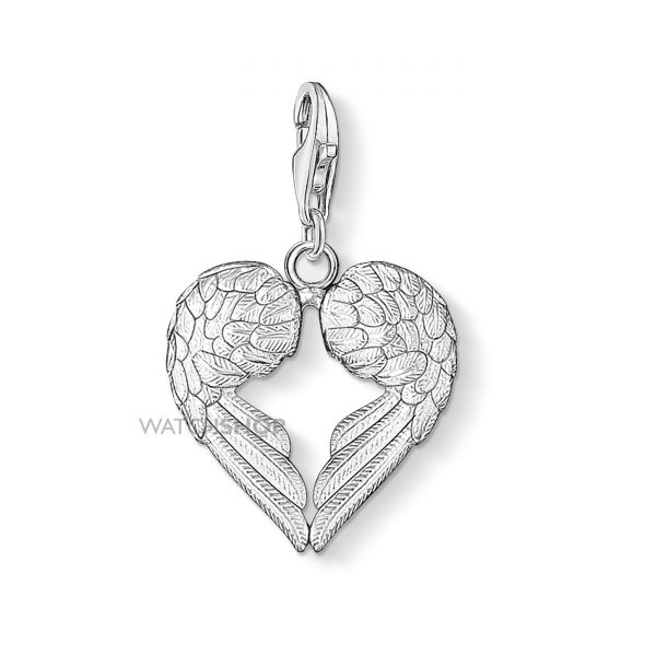Ladies Thomas Sabo Sterling Silver Charm Club Heart Wings Charm 0613-001-12