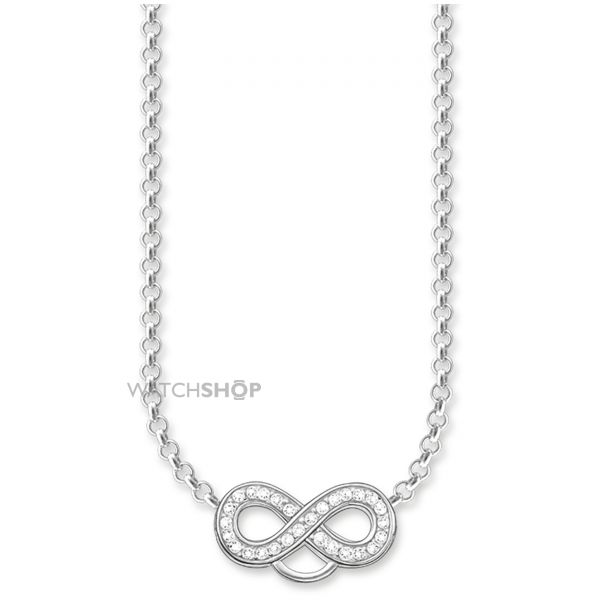 Ladies Thomas Sabo Sterling Silver Charm Club Infinity Charm Necklace X0205-051-14-L42V