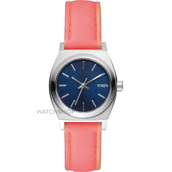 Ladies Nixon The Small Time Teller Leather Watch A509-2077
