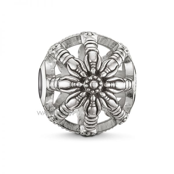 Ladies Thomas Sabo Sterling Silver Karma Beads - Small Karma Wheel Bead K0016-001-12