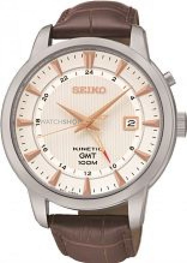 Mens Seiko GMT Kinetic Watch SUN035P1