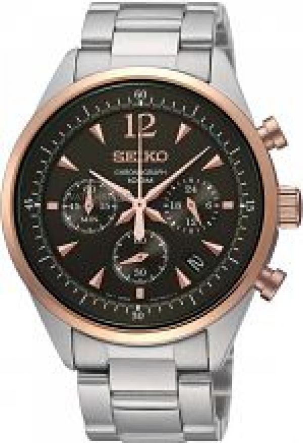 Mens Seiko Chronograph Watch SSB068P1