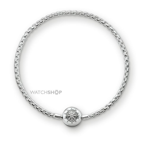 Ladies Thomas Sabo Sterling Silver Karma Beads Bracelet KA0001-001-12-L18