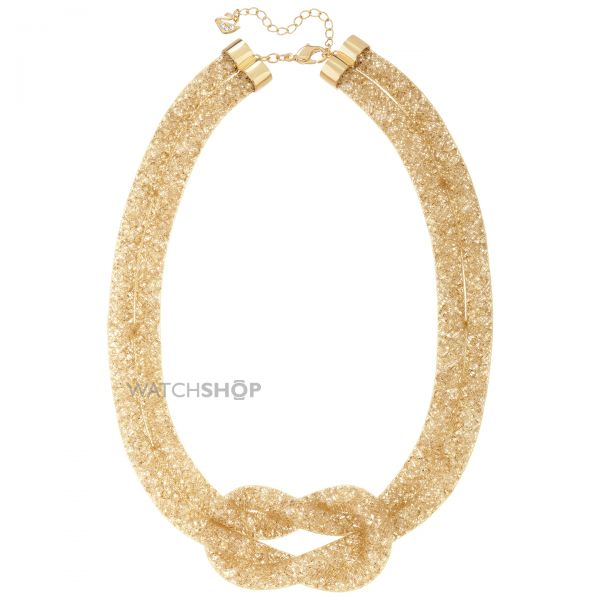 Ladies Swarovski PVD Gold plated Stardust Knot Necklace 5110617